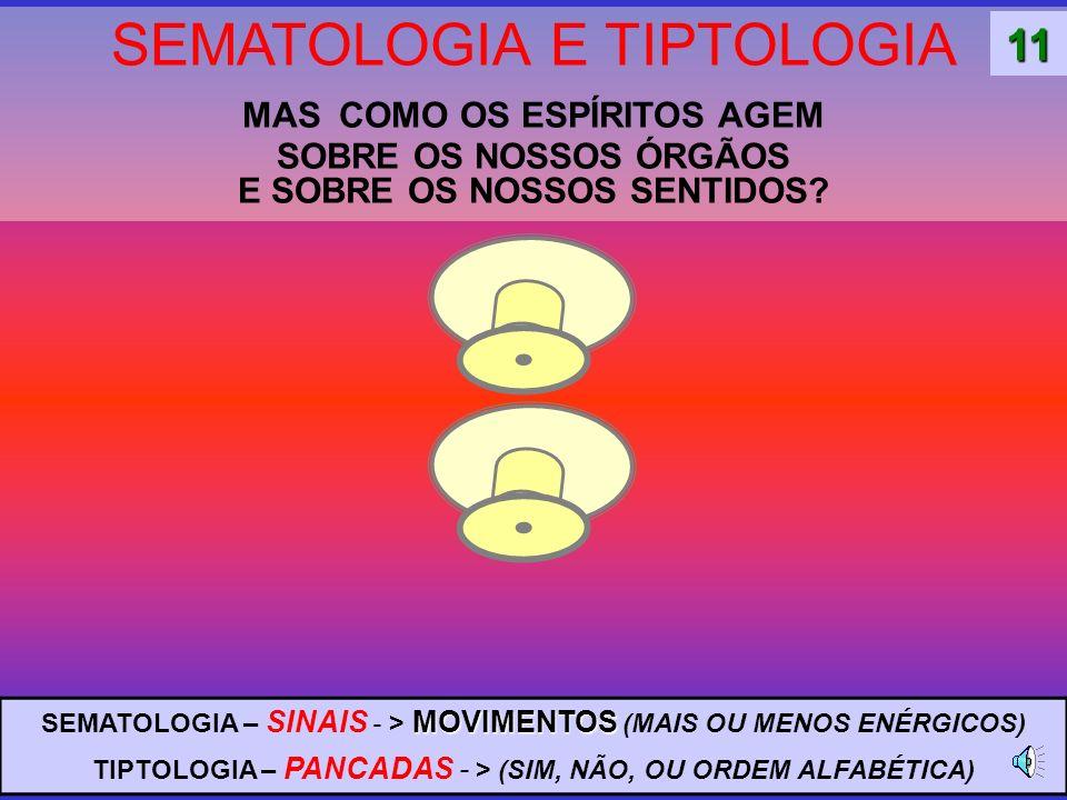 SEMATOLOGIA E TIPTOLOGIA MAS COMO OS ESPÍRITOS AGEM SOBRE OS NOSSOS ÓRGÃOS E SOBRE OS NOSSOS SENTIDOS.