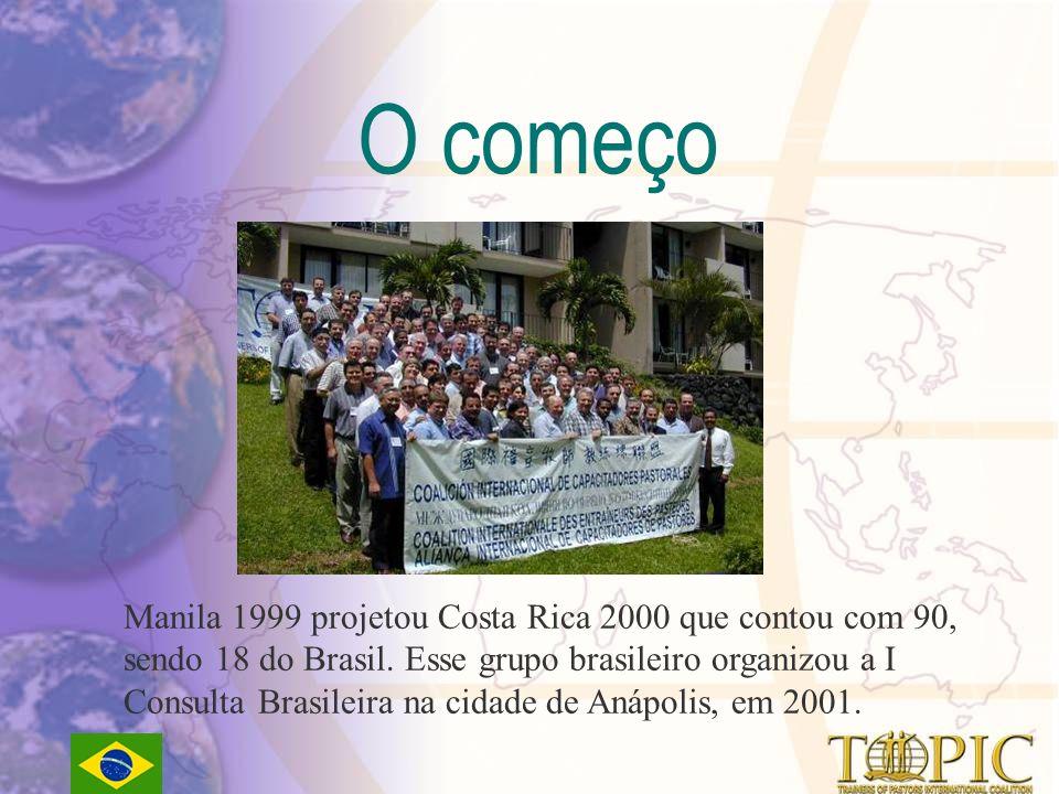 Manila 1999 projetou Costa Rica 2000 que contou com 90, sendo 18 do Brasil.