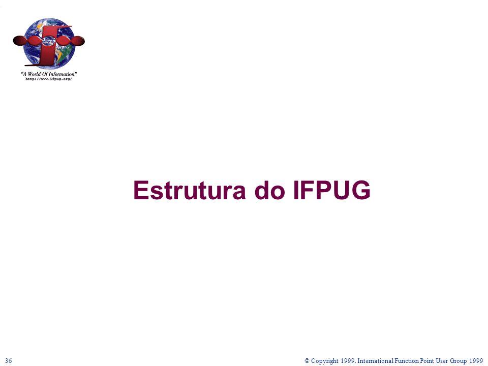 © Copyright 1999. International Function Point User Group 199936 Estrutura do IFPUG