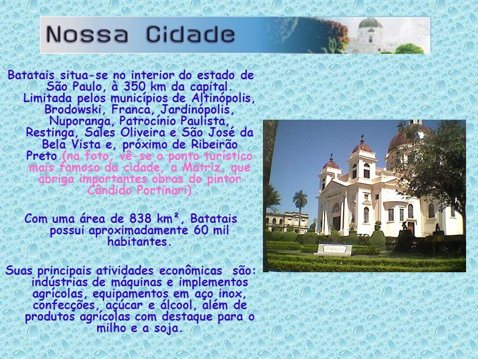 Batatais situa-se no interior do estado de São Paulo, à 350 km da capital. Limitada pelos municípios de Altinópolis, Brodowski, Franca, Jardinópolis,