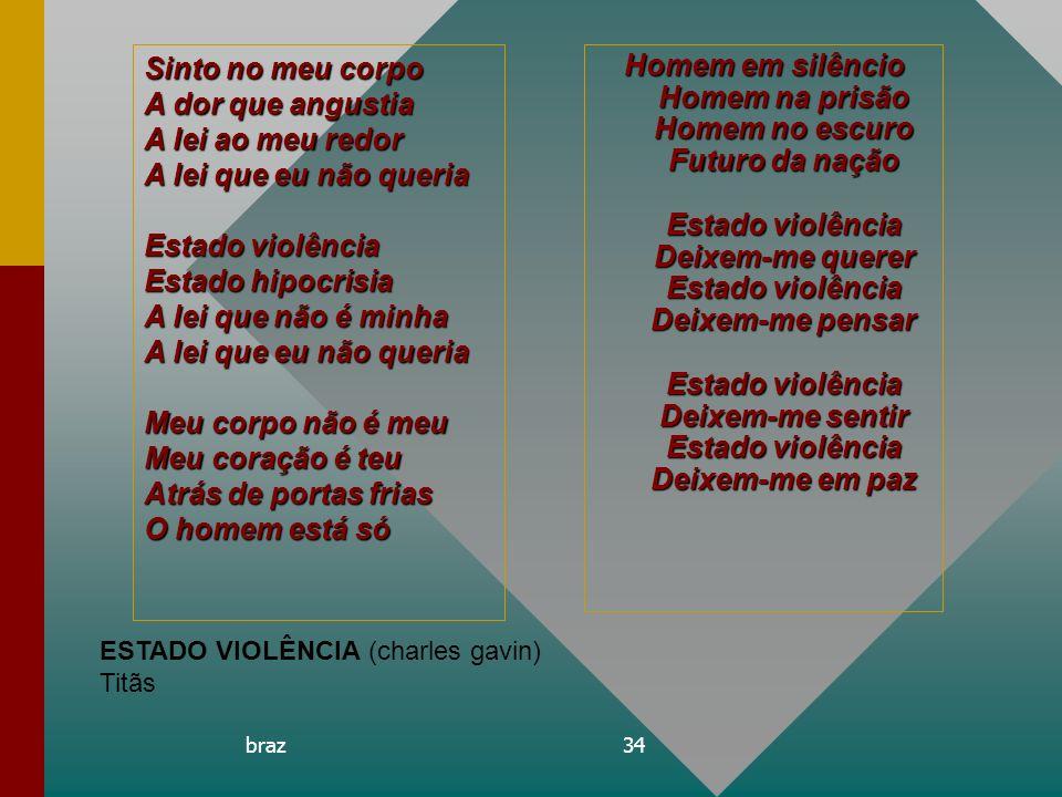 braz34 Homem em silêncio Homem na prisão Homem no escuro Futuro da nação Estado violência Deixem-me querer Estado violência Deixem-me pensar Estado vi