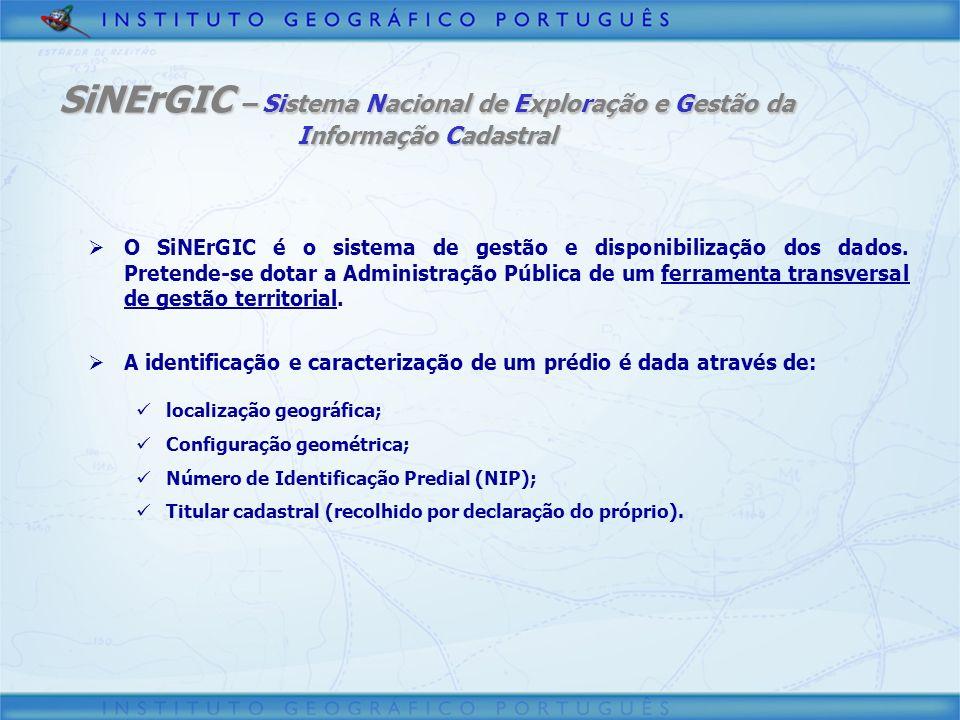 O SiNErGIC é o sistema de gestão e disponibilização dos dados. Pretende-se dotar a Administração Pública de um ferramenta transversal de gestão territ