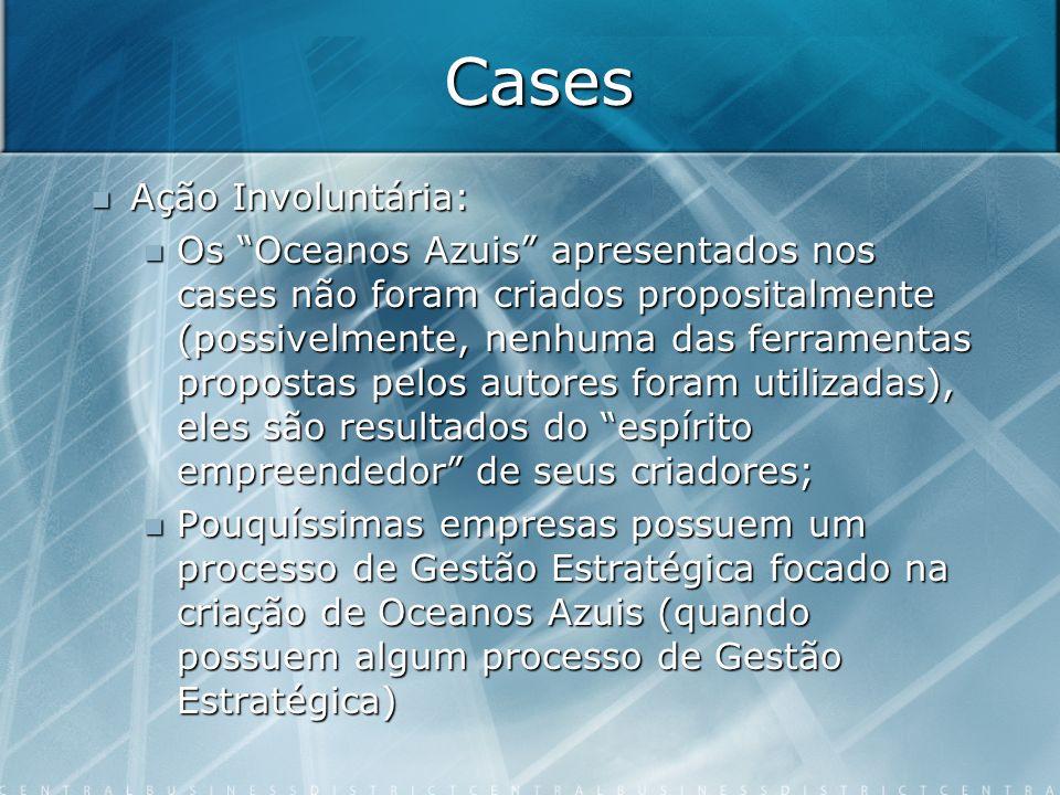 Cases Ação Involuntária: Ação Involuntária: Os Oceanos Azuis apresentados nos cases não foram criados propositalmente (possivelmente, nenhuma das ferr