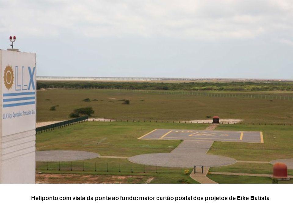 Heliponto com vista da ponte ao fundo: maior cartão postal dos projetos de Eike Batista