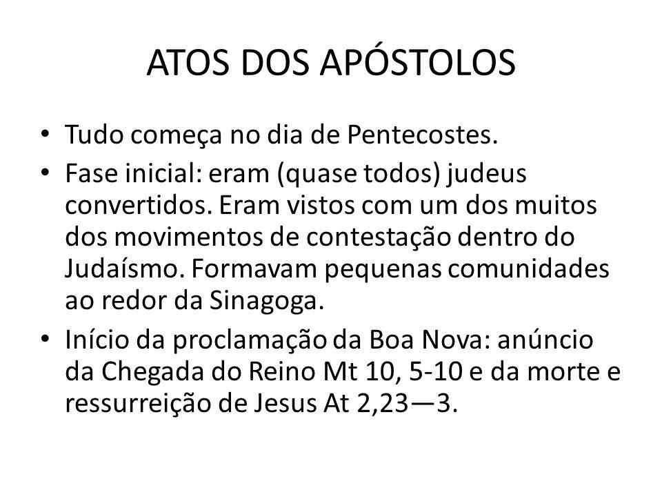 Fundação da igreja da Antioquia: 11,19-26 Pela primeira vez, constitui-se numa grande metrópole do Império um grupo misto de cristãos.