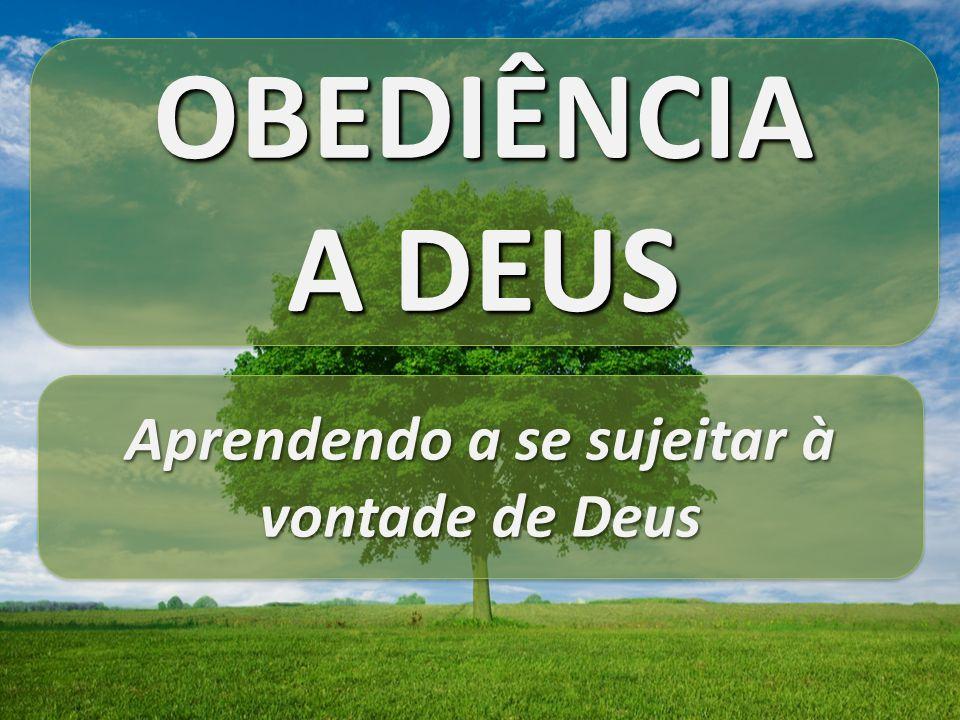 OBEDIÊNCIA A DEUS OBEDIÊNCIA Aprendendo a se sujeitar à vontade de Deus