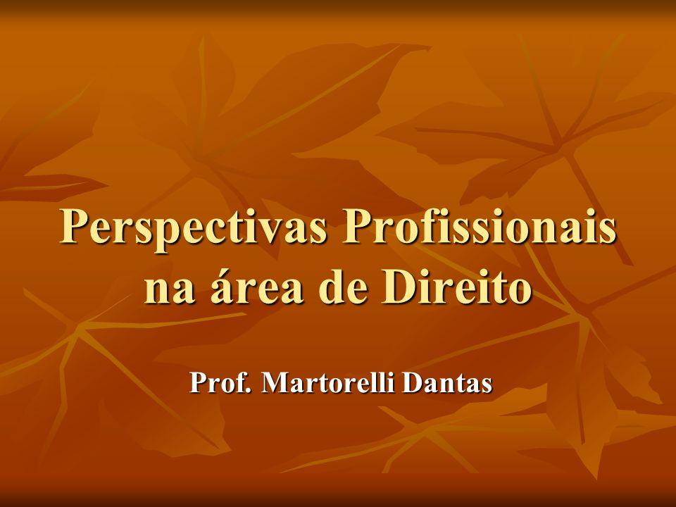 Perspectivas Profissionais na área de Direito Prof. Martorelli Dantas
