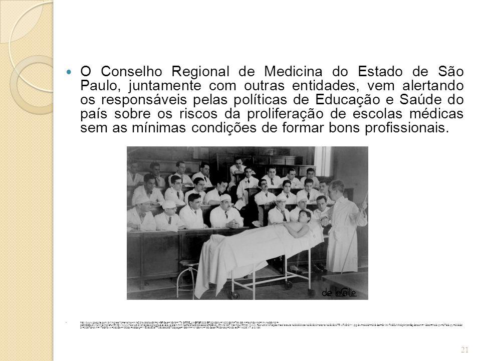 O Conselho Regional de Medicina do Estado de São Paulo, juntamente com outras entidades, vem alertando os responsáveis pelas políticas de Educação e S