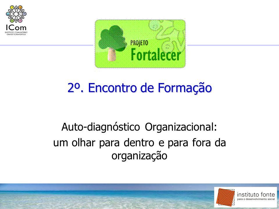 2º. Encontro de Formação Auto-diagnóstico Organizacional: um olhar para dentro e para fora da organização