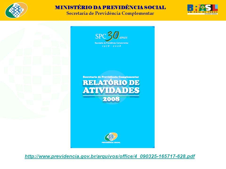 MINISTÉRIO DA PREVIDÊNCIA SOCIAL Secretaria de Previdência Complementar – EDUCAÇÃO PREVIDENCIÁRIA – Recomendação CGPC Nº 01, 2008 ENEF/BRASIL: http://www.vidaedinheiro.gov.brhttp://www.vidaedinheiro.gov.br – SUPERÁVIT e DÉFICIT – RES.