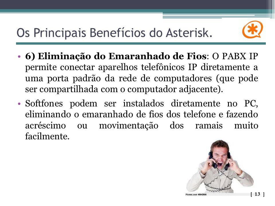 Os Principais Benefícios do Asterisk. 6) Eliminação do Emaranhado de Fios: O PABX IP permite conectar aparelhos telefônicos IP diretamente a uma porta