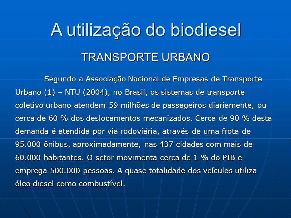 Segundo a Associação Nacional de Empresas de Transporte Urbano (1) – NTU (2004), no Brasil, os sistemas de transporte coletivo urbano atendem 59 milhõ