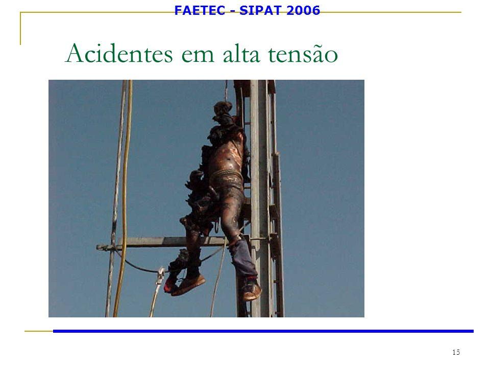 FAETEC - SIPAT 2006 15 Acidentes em alta tensão