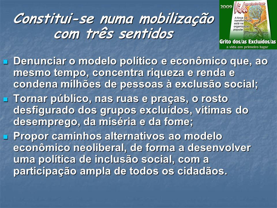 2003 - Brasil: na força da indignação, sementes de transformação 2005 - Brasil: em nossas mãos a mudança 2004 - Brasil: Mudança pra valer, o povo faz acontecer