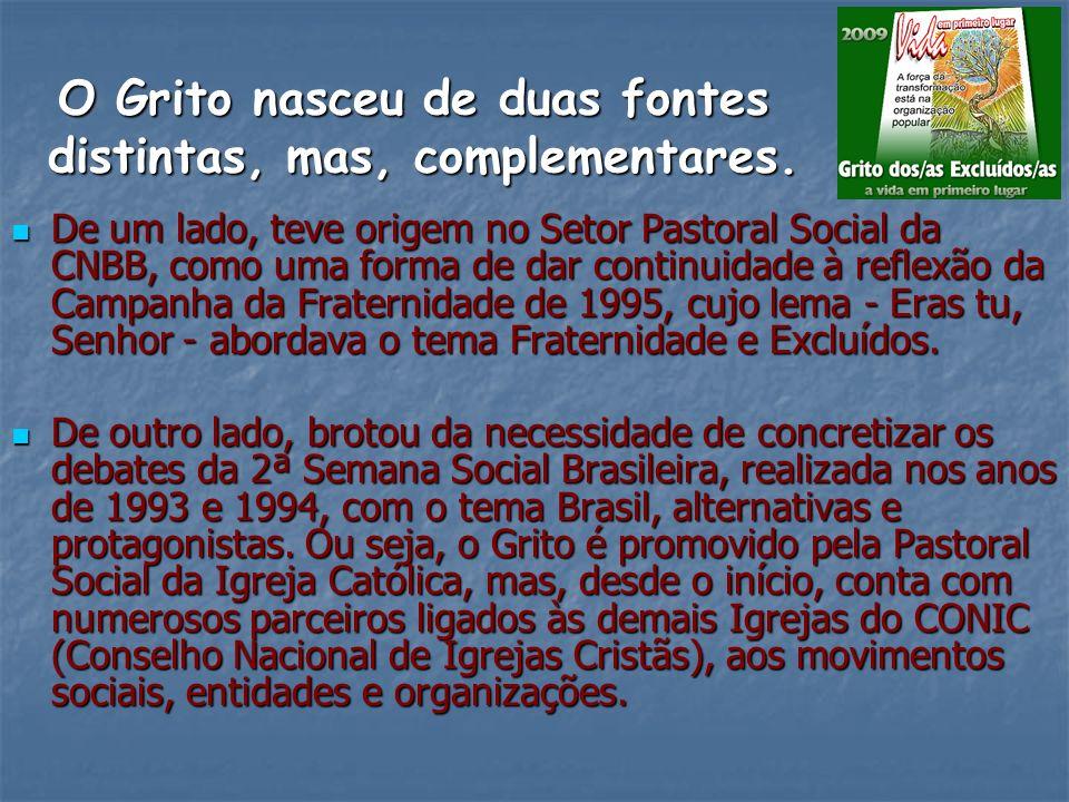 O que vamos relatar Fala como começou O grito dos excluídos Quem o idealizou Na semana social brasileira Surgiu a idéia primeira E o Grito o povo aprovou