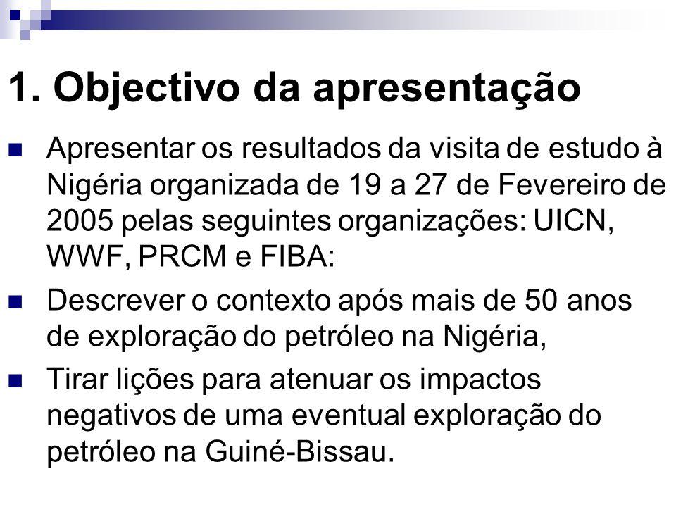 1. Objectivo da apresentação Apresentar os resultados da visita de estudo à Nigéria organizada de 19 a 27 de Fevereiro de 2005 pelas seguintes organiz