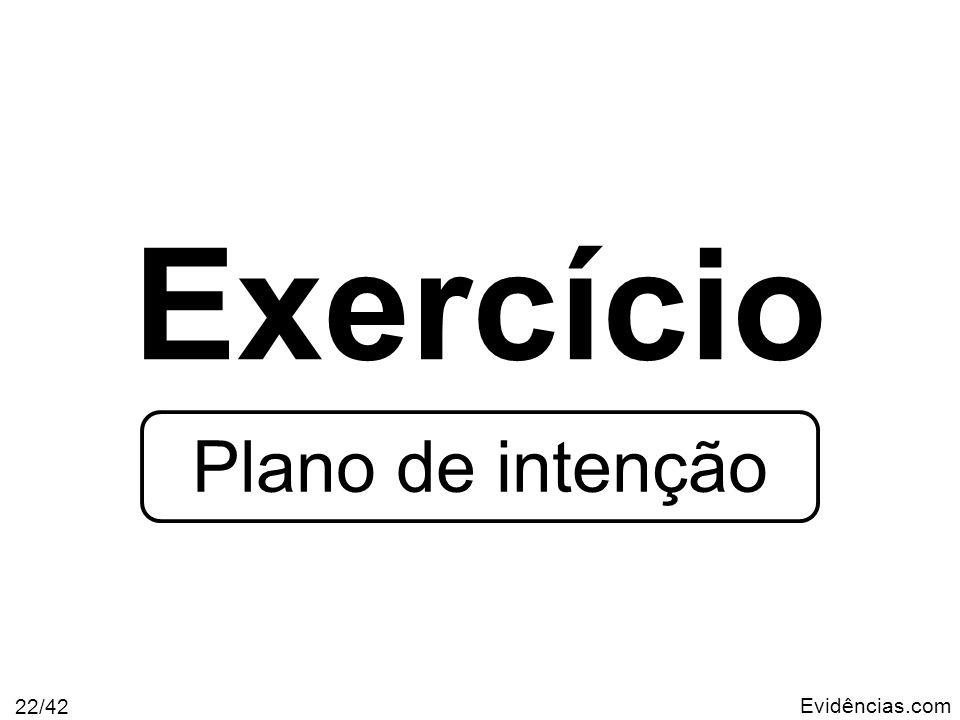 Evidências.com 22/42 Exercício Plano de intenção