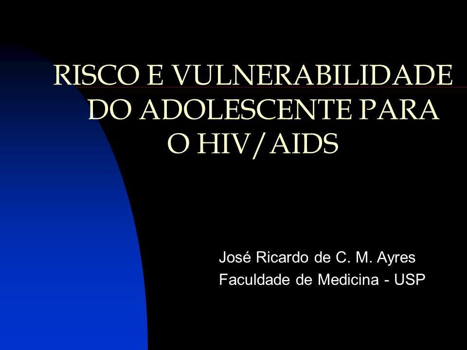RISCO E VULNERABILIDADE DO ADOLESCENTE PARA O HIV/AIDS José Ricardo de C. M. Ayres Faculdade de Medicina - USP