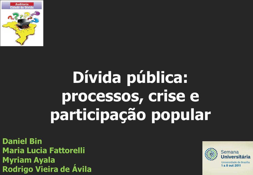 Daniel Bin Maria Lucia Fattorelli Myriam Ayala Rodrigo Vieira de Ávila Dívida pública: processos, crise e participação popular