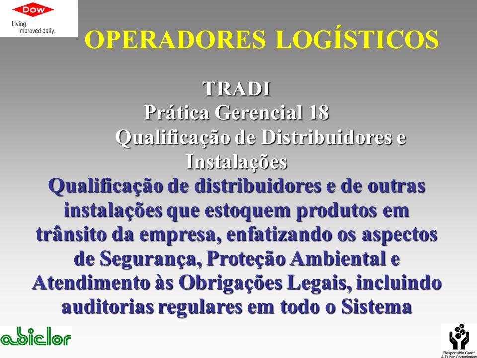 TRADI Prática Gerencial 18 Qualificação de Distribuidores e Instalações Qualificação de Distribuidores e Instalações Qualificação de distribuidores e