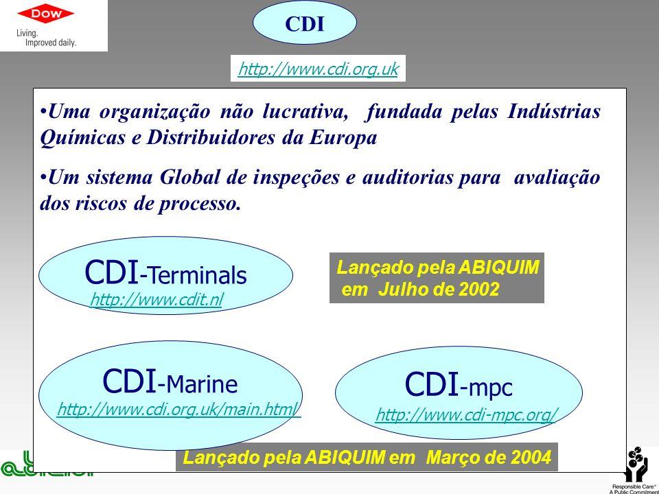 Uma organização não lucrativa, fundada pelas Indústrias Químicas e Distribuidores da Europa Um sistema Global de inspeções e auditorias para avaliação