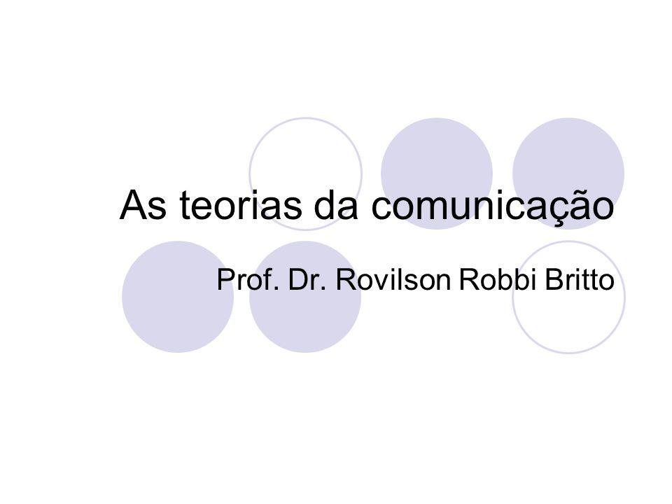 Introdução A questão da comunicação O que é comunicação.