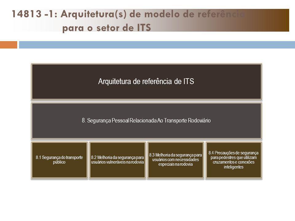 Arquitetura de referência de ITS 8. Segurança Pessoal Relacionada Ao Transporte Rodoviário 8.1 Segurança do transporte público 8.2 Melhoria da seguran