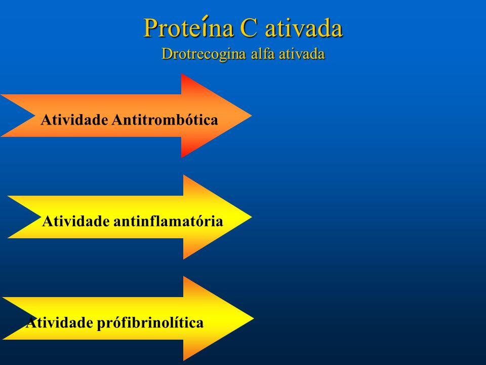 Atividade AntitrombóticaAtividade prófibrinolíticaAtividade antinflamatória Prote í na C ativada Drotrecogina alfa ativada