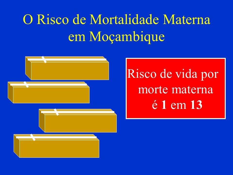 O Risco de Mortalidade Materna em Moçambique Risco de vida por morte materna é 1 em 13
