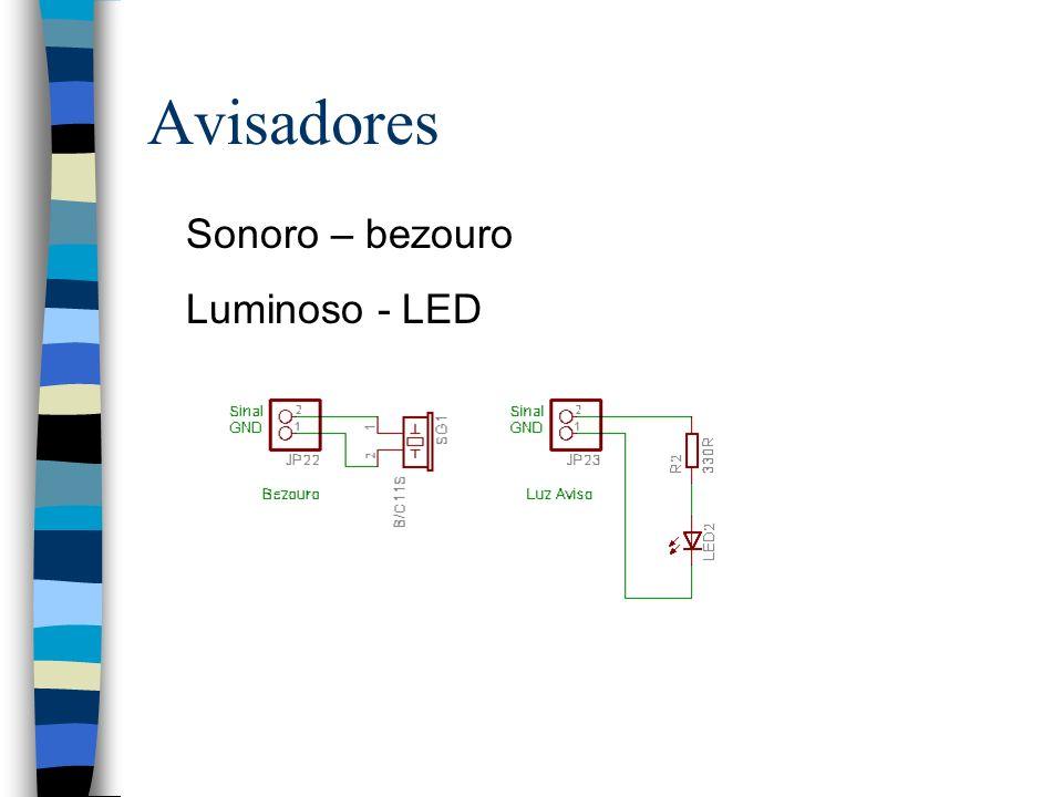 Avisadores Sonoro – bezouro Luminoso - LED