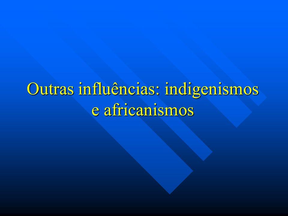 Outras influências: indigenismos e africanismos