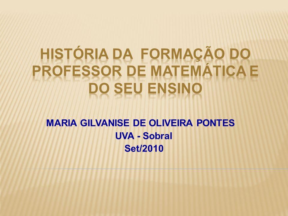 MARIA GILVANISE DE OLIVEIRA PONTES UVA - Sobral Set/2010
