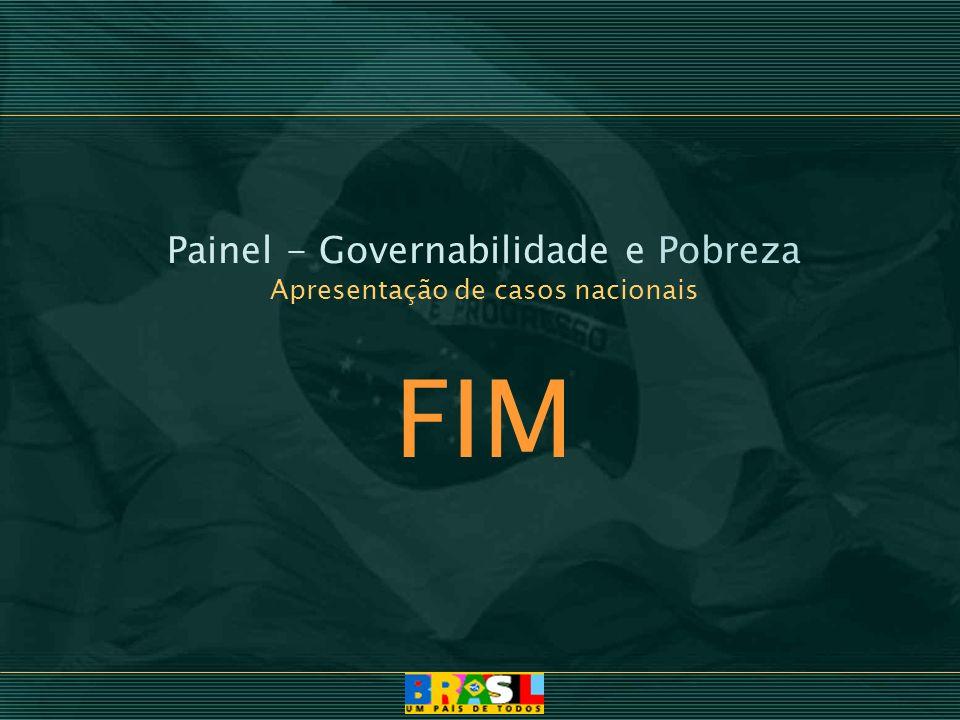 Painel - Governabilidade e Pobreza Apresentação de casos nacionais FIM