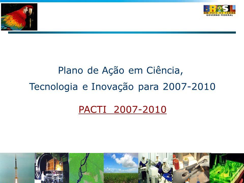 Plano de Ação em Ciência, Tecnologia e Inovação para 2007-2010 PACTI 2007-2010