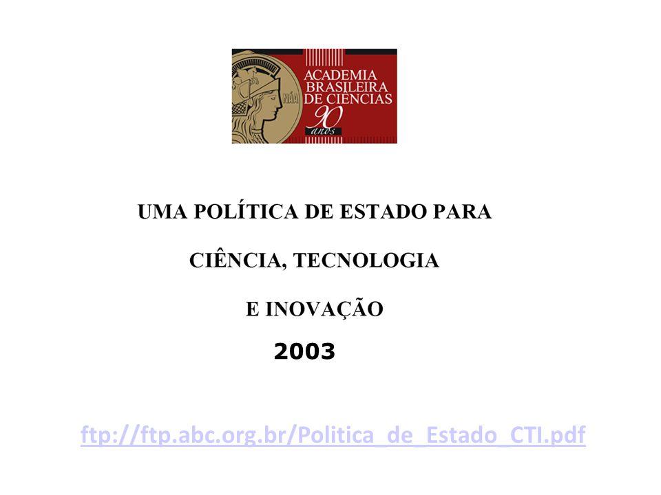 ftp://ftp.abc.org.br/Politica_de_Estado_CTI.pdf 2003