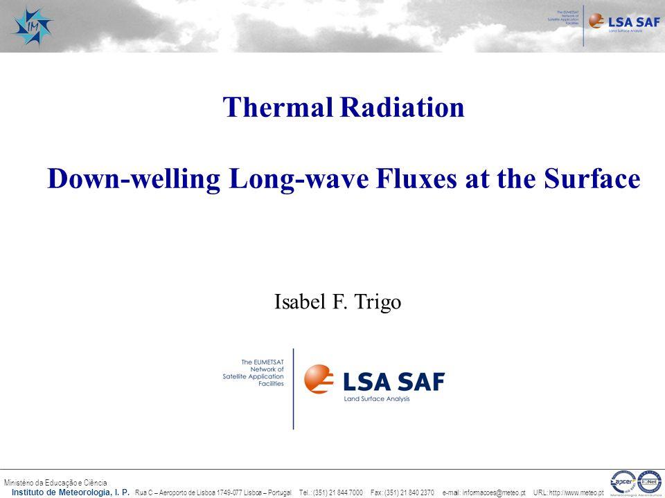 Ministério da Educação e Ciência Instituto de Meteorologia, I. P. Rua C – Aeroporto de Lisboa 1749-077 Lisboa – Portugal Tel.: (351) 21 844 7000 Fax: