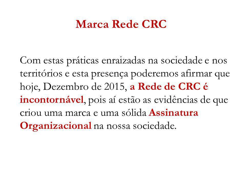 Com estas práticas enraizadas na sociedade e nos territórios e esta presença poderemos afirmar que hoje, Dezembro de 2015, a Rede de CRC é incontornáv