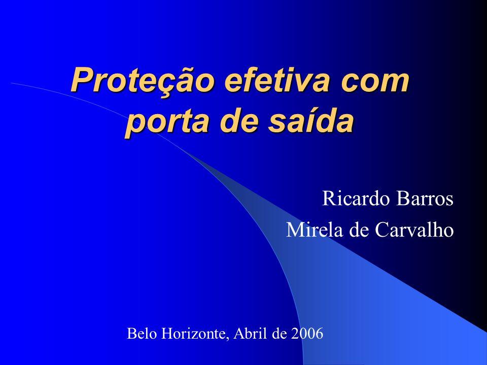 Proteção efetiva com porta de saída Ricardo Barros Mirela de Carvalho Belo Horizonte, Abril de 2006