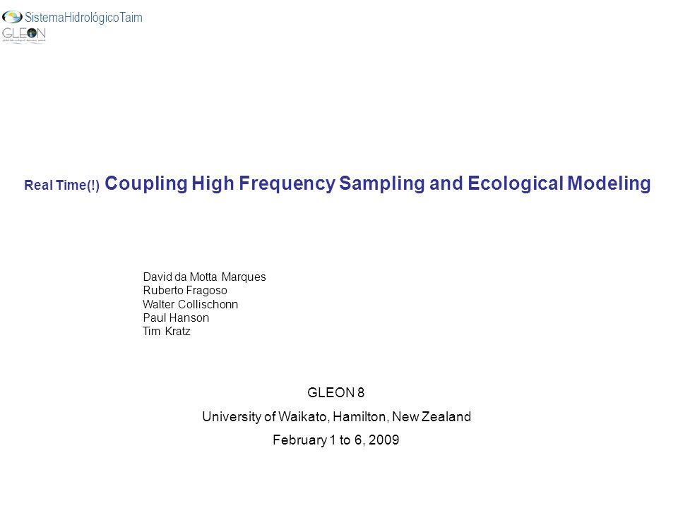 Real Time(!) Coupling High Frequency Sampling and Ecological Modeling David da Motta Marques Ruberto Fragoso Walter Collischonn Paul Hanson Tim Kratz