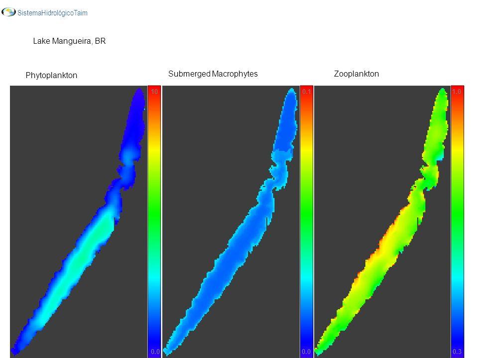 10 0.0 0.3 1.00.1 Phytoplankton Submerged MacrophytesZooplankton Lake Mangueira, BR SistemaHidrológicoTaim