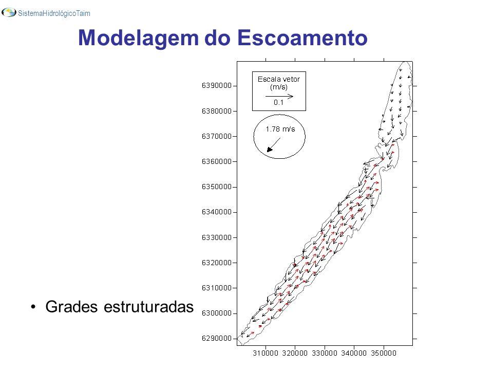 Modelagem do Escoamento Grades estruturadas SistemaHidrológicoTaim