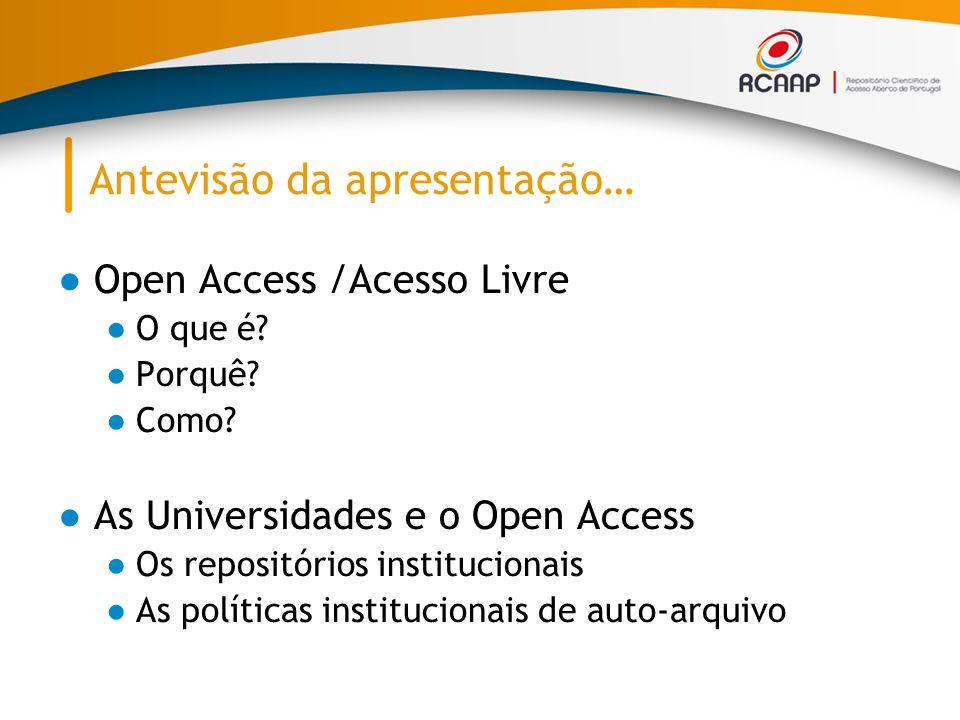 O que é o Open Access.