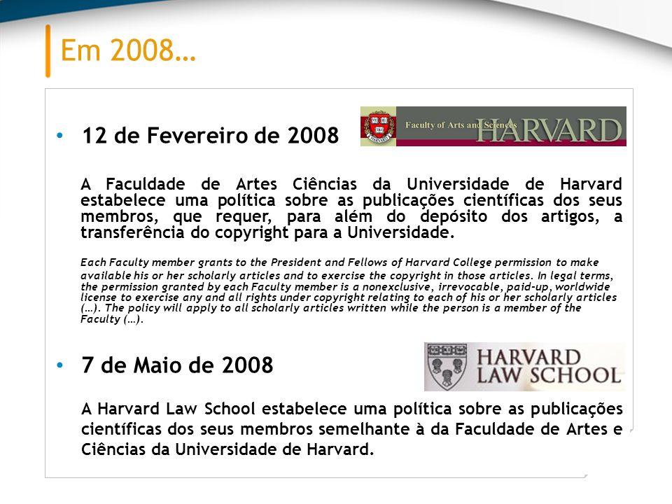 Em 2008… Fevereiro 2008 Seg.Ter.Qua.Qui.Sex.Sáb.Dom. 123 45678910 11121314151617 18192021222324 2526272829 12 de Fevereiro de 2008 A Faculdade de Arte