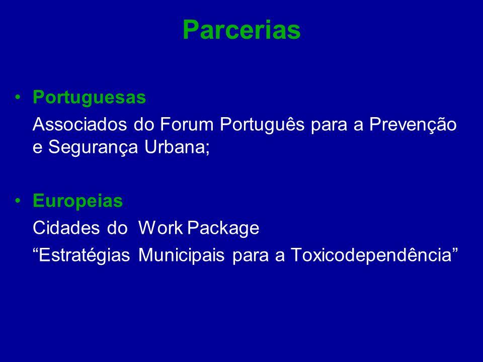 Parcerias Portuguesas Associados do Forum Português para a Prevenção e Segurança Urbana; Europeias Cidades do Work Package Estratégias Municipais para