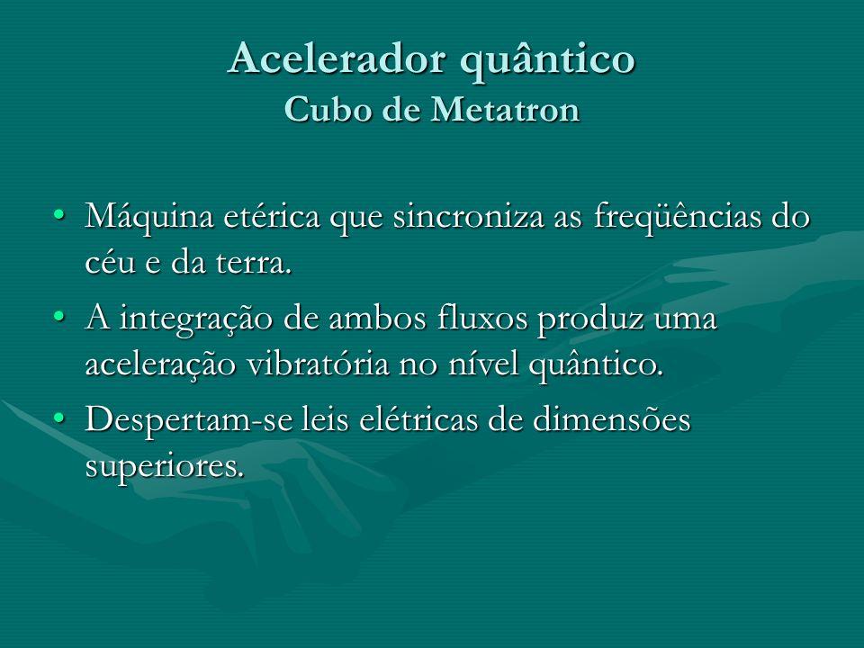 Acelerador quântico Cubo de Metatron Máquina etérica que sincroniza as freqüências do céu e da terra.Máquina etérica que sincroniza as freqüências do