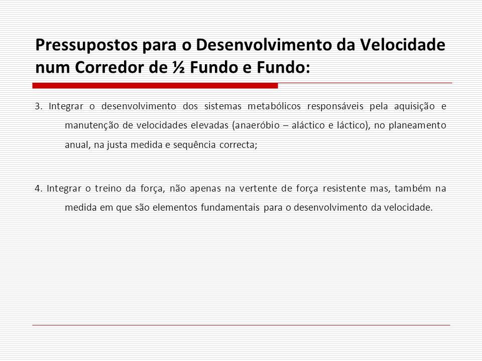Pressupostos para o Desenvolvimento da Velocidade num Corredor de ½ Fundo e Fundo: 3. Integrar o desenvolvimento dos sistemas metabólicos responsáveis
