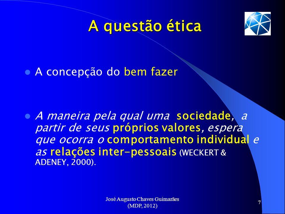 José Augusto Chaves Guimarães (MDP, 2012) 18 Compromisso com a profissão...