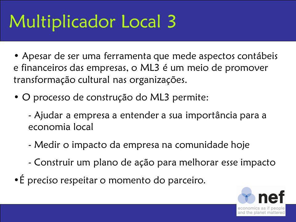 Apesar de ser uma ferramenta que mede aspectos contábeis e financeiros das empresas, o ML3 é um meio de promover transformação cultural nas organizaçõ