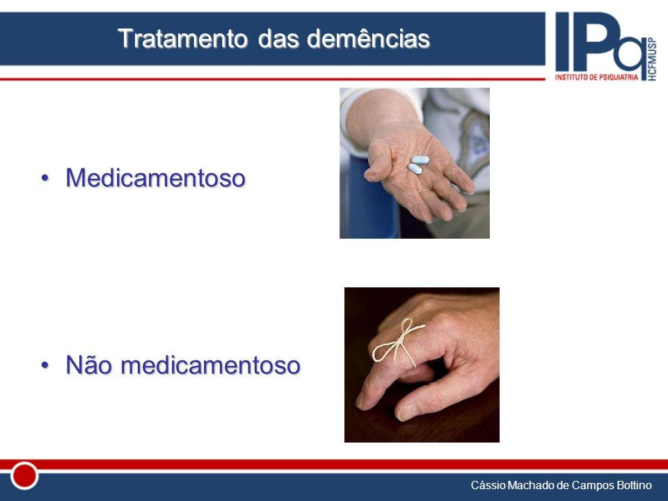 Cássio Machado de Campos Bottino Tratamento das demências MedicamentosoMedicamentoso Não medicamentosoNão medicamentoso