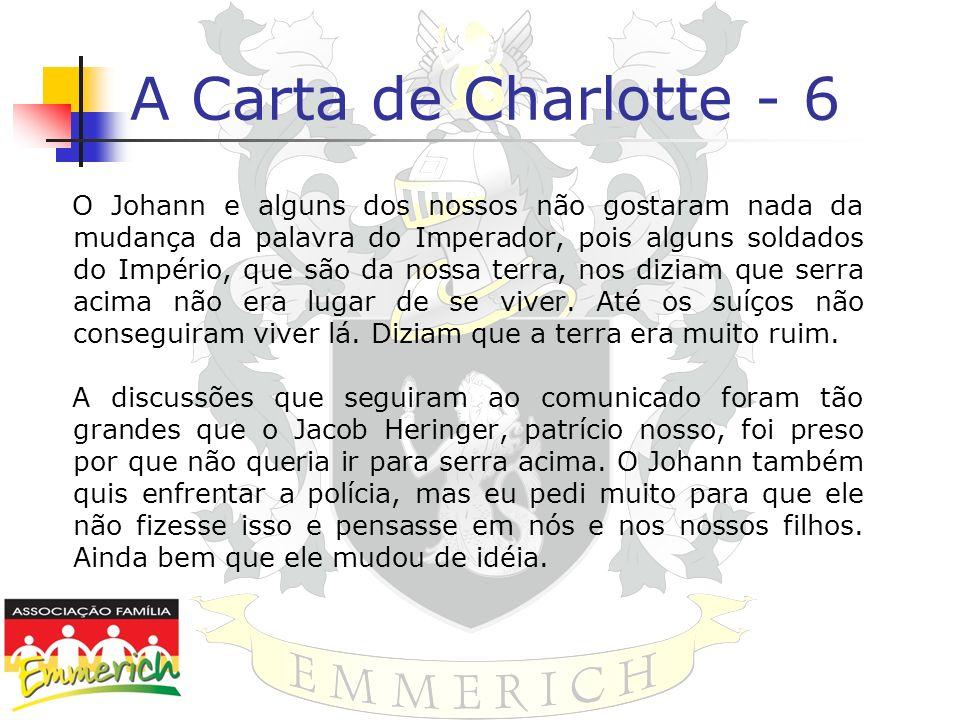 A Carta de Charlotte - 6 O Johann e alguns dos nossos não gostaram nada da mudança da palavra do Imperador, pois alguns soldados do Império, que são d